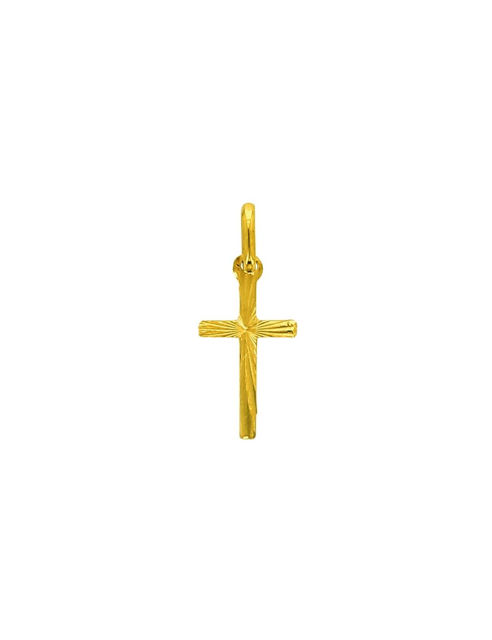 Pendentif Croix Christ Or Jaune 18 Carats + Chaine Or Jaune OFFERTE