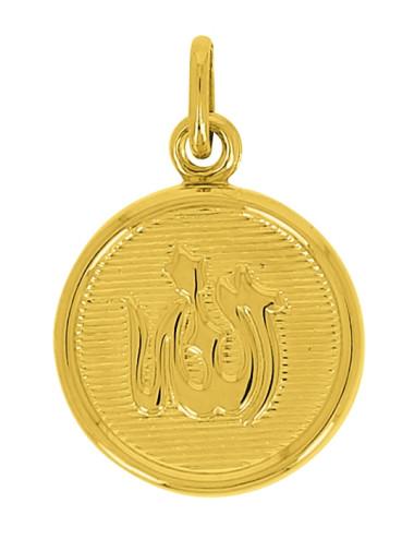 Pendentif Allah Or Jaune 18 Carats + Chaine Or Jaune OFFERTE