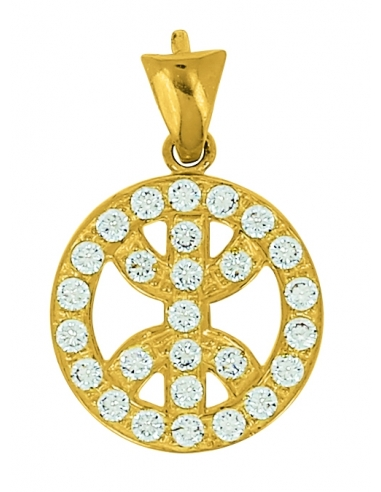Pendentif Kabyle Or Jaune 18 Carats + Chaine Or Jaune OFFERTE