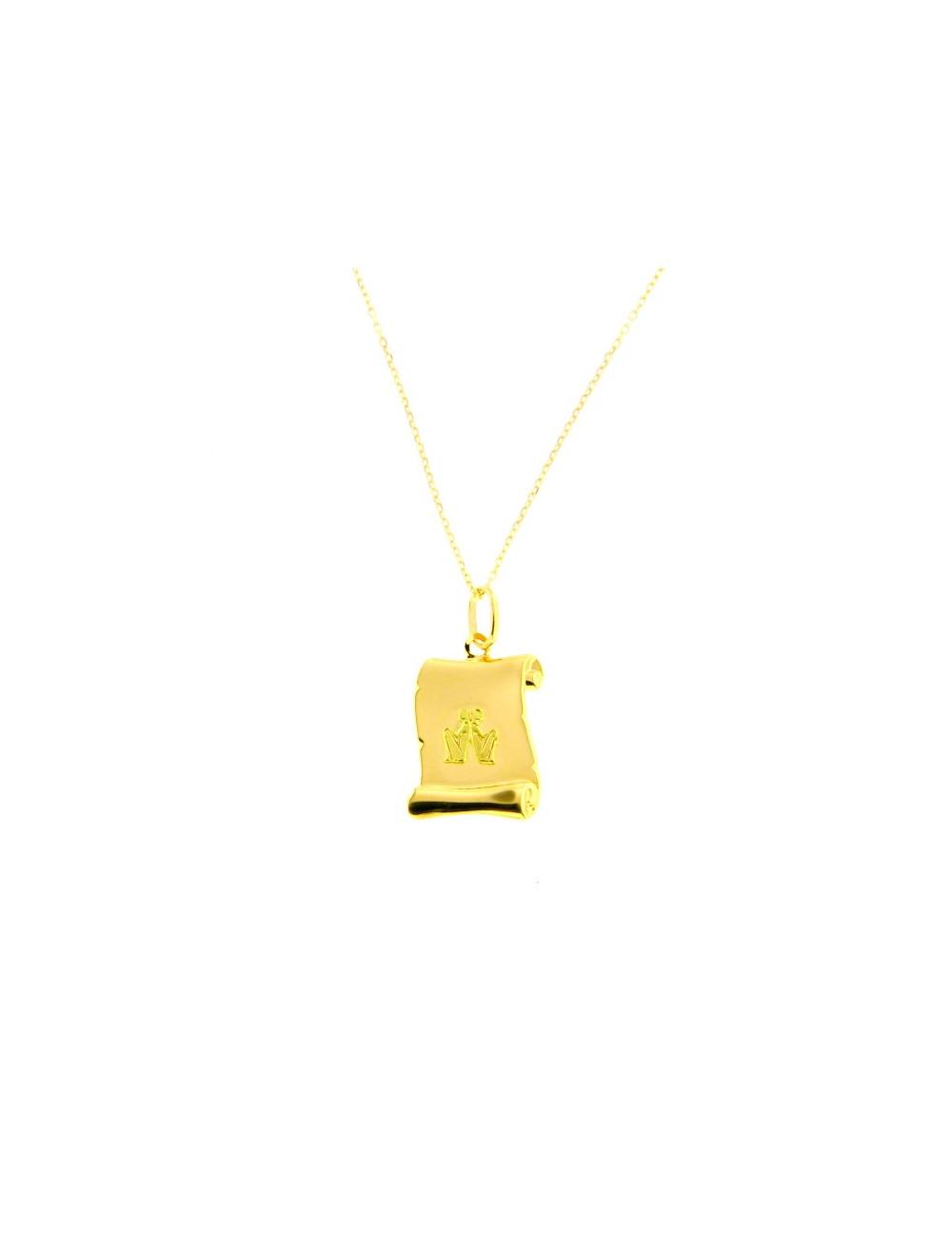 zodiaque pendentif or jaune pas cher
