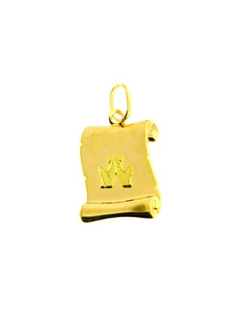 pendentif bijoux femme homme or jaune 375/1000