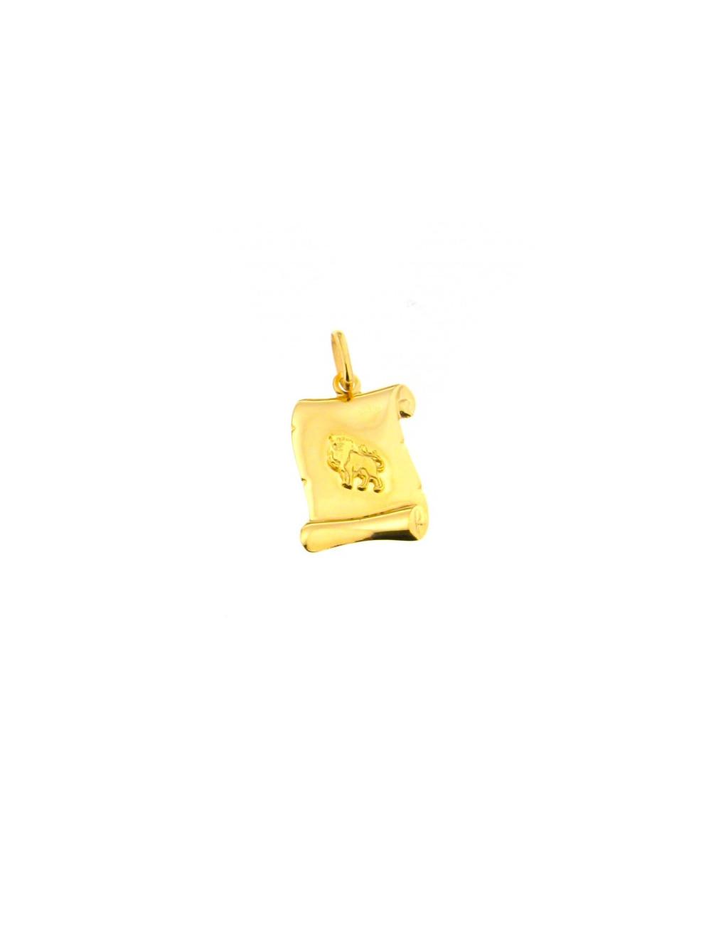 pendentif zodiaque or jaune 750/1000 pas cher