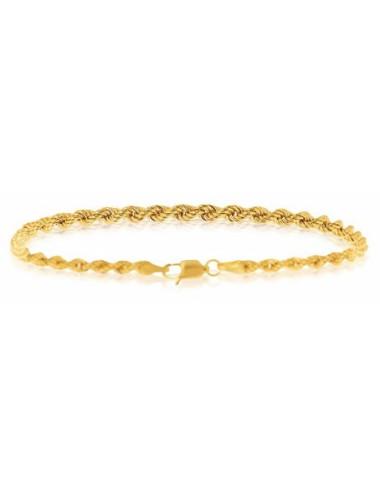 bracelet or jaune femme maille 750/1000