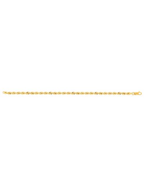 Bracelet corde femme or jaune