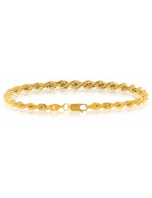 bijoux femme or jaune corde 750/1000