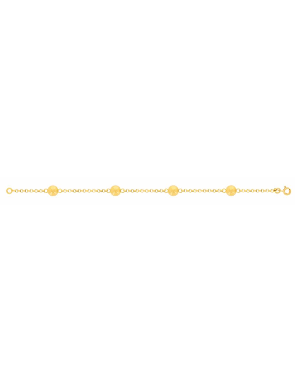Bracelet femme bijoux or jaune pas cher