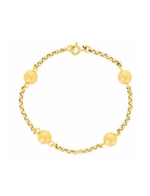 bijoux bracelet boules femme 18 carats
