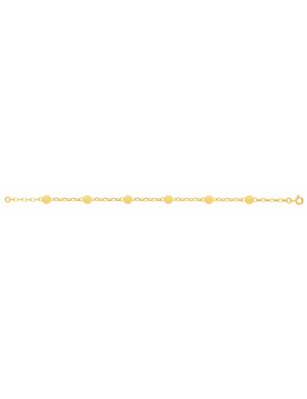 Bracelet boule or jaune pas cher