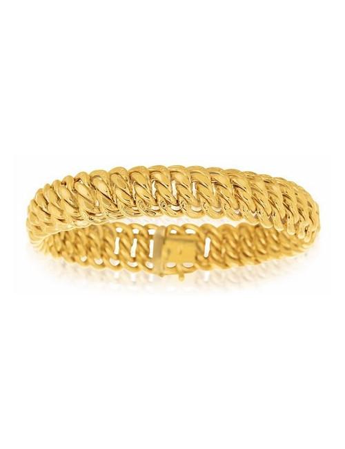 bracelet maille or jaune 750/1000 bijoux femme