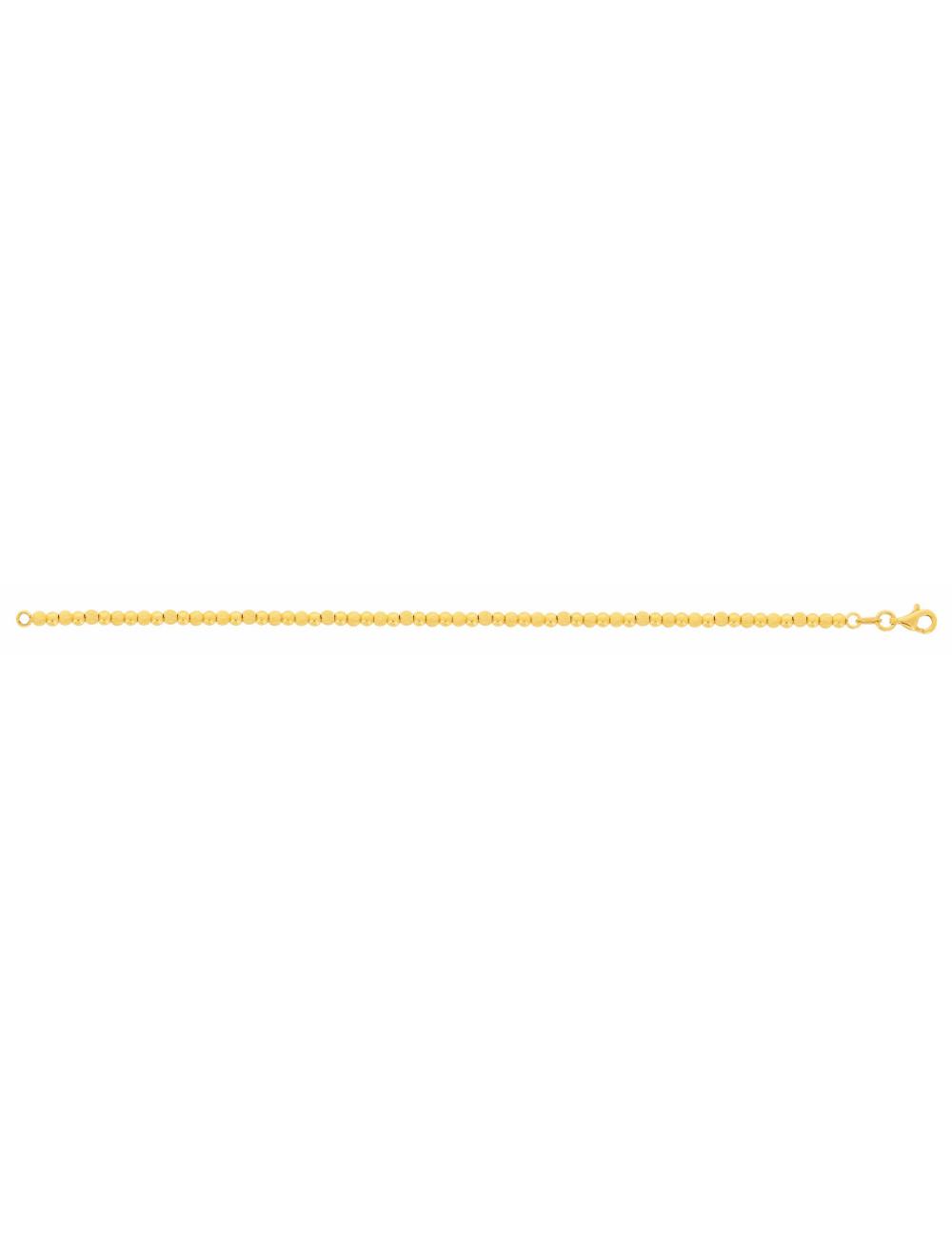 bracelet femme boule or jaune 18 carats