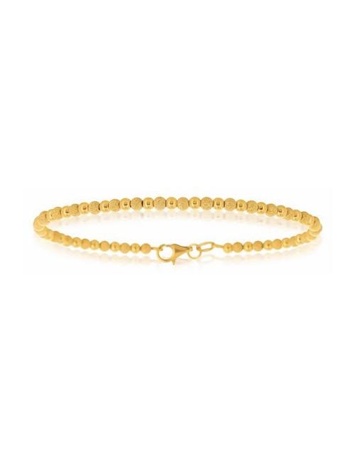 bracelet or jaune pas cher boule 750/1000