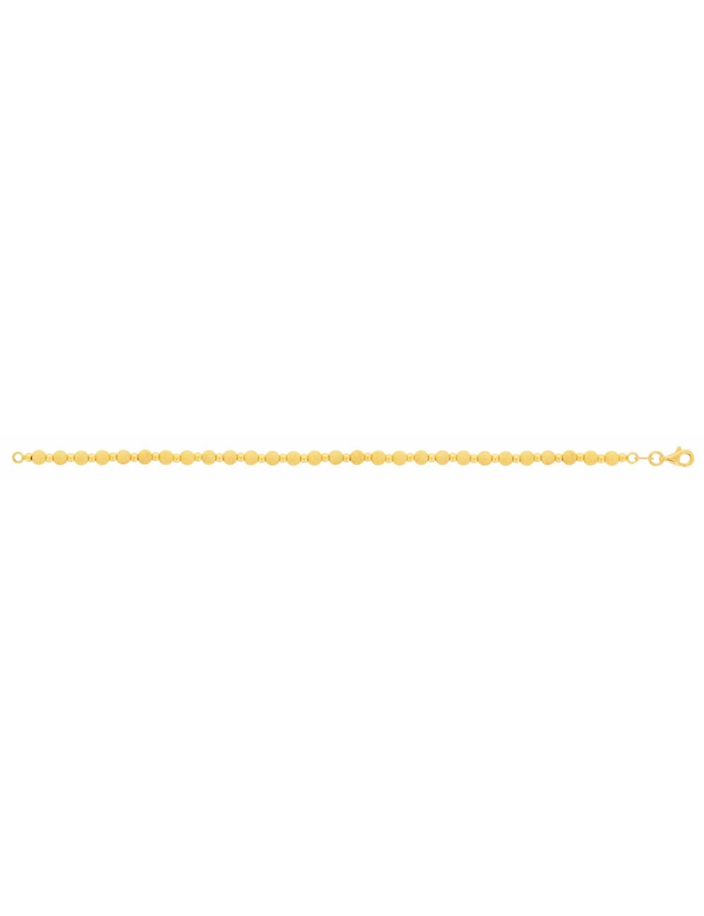 Bracelet Boules Femme Or jaune 750/1000