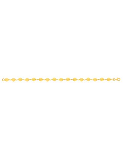 Bracelet boule femme or jaune pas cher