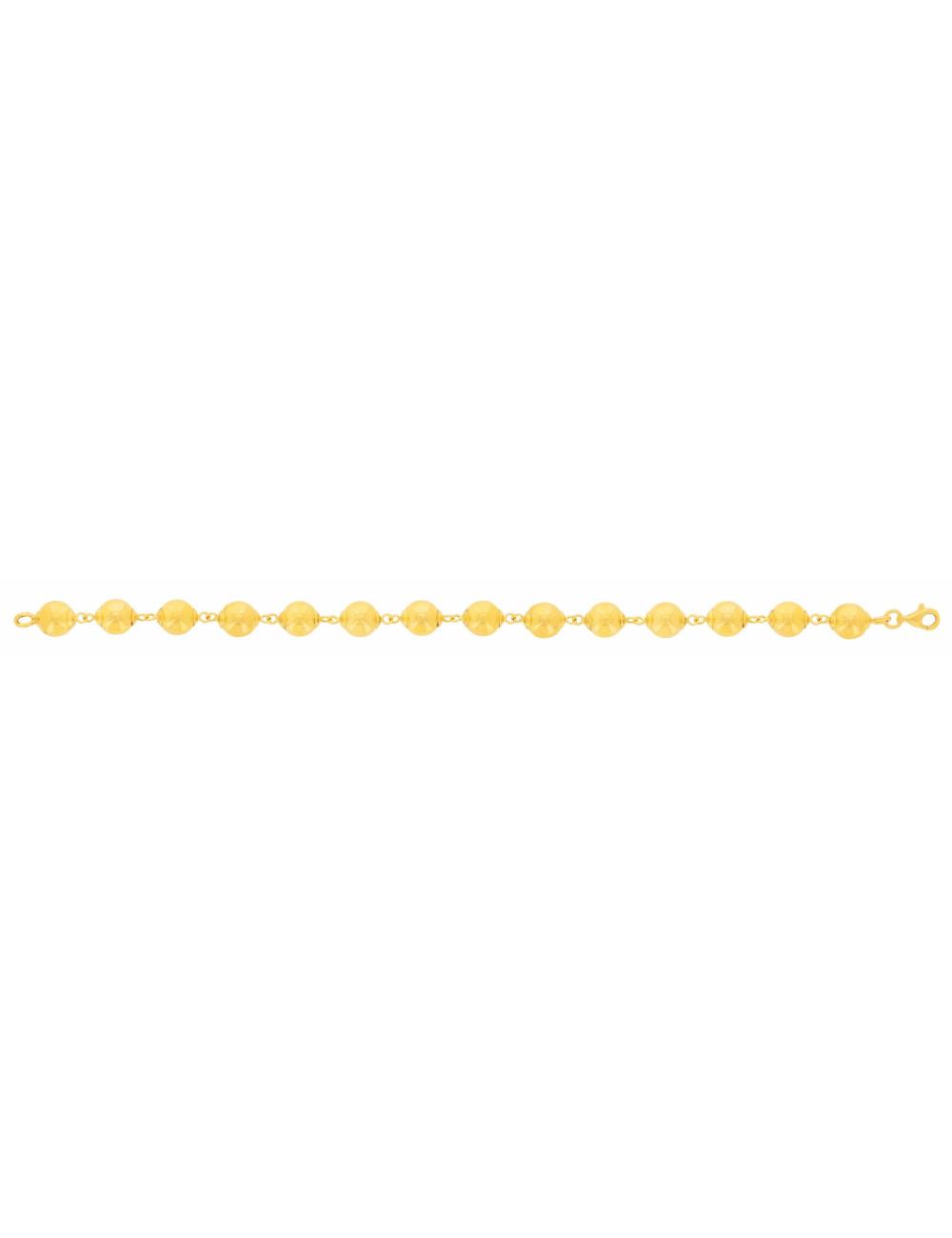 Bracelet boule femme pas cher or jaune