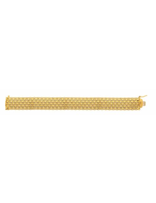 Bracelet maille paillasson femme or jaune 750/1000