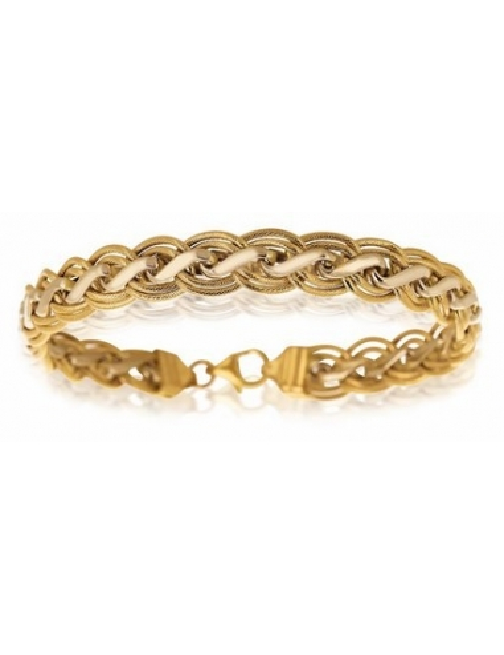 bracelet femme maille or jaune 18 carats