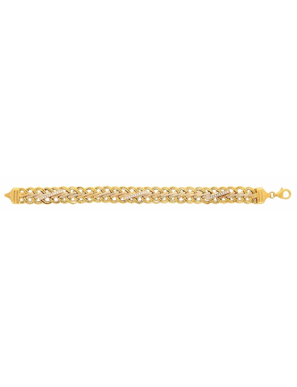 Bracelet maille femme or jaune 18 carats