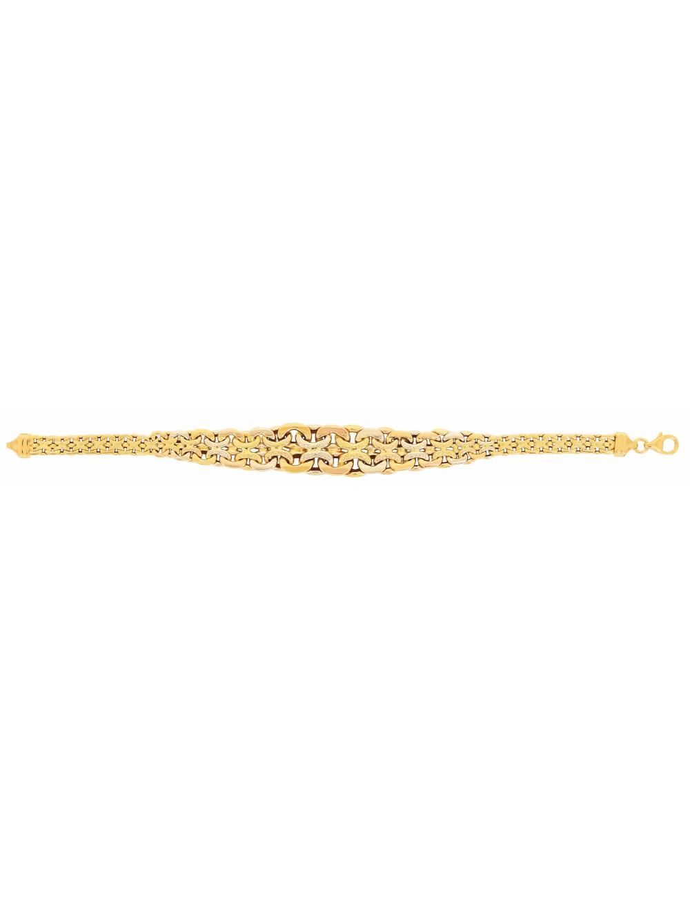 Bracelet maille or jaune 750/1000 femme
