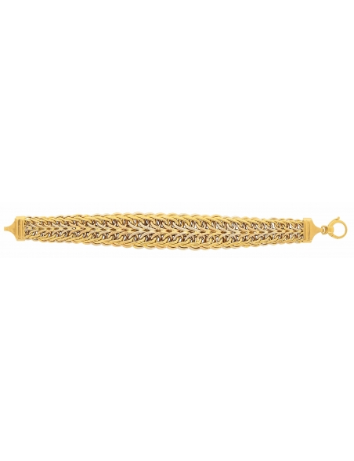 bracelet fantaisie or jaune femme 750/1000
