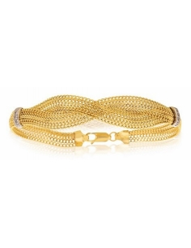 Bracelet Torsadé Or Jaune...