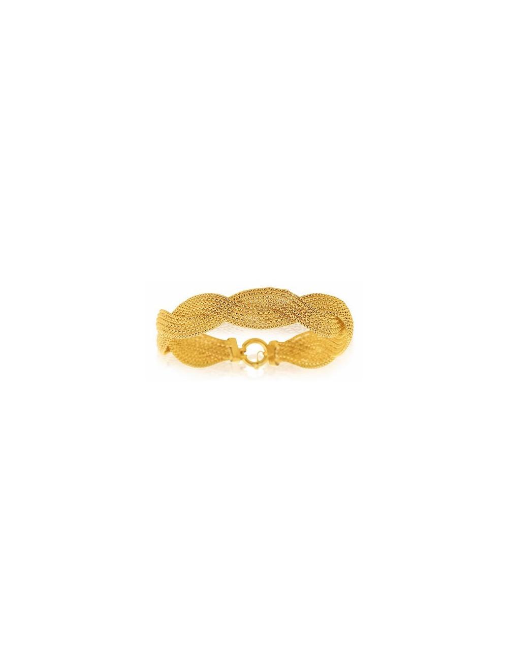 bracelet or jaune 750/1000 femme