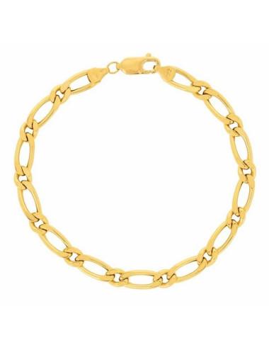 Bracelet bijou homme or jaune maille