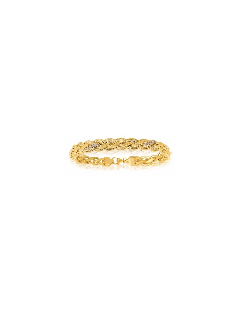 bracelet femme or jaune 750/1000