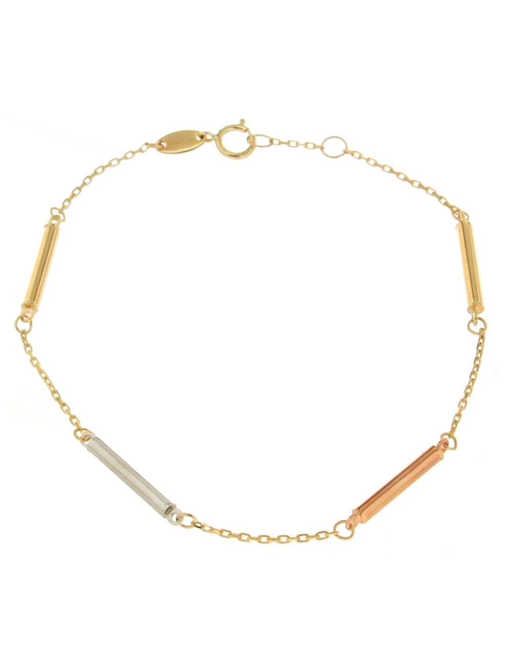 Bracelet or jaune tricolore