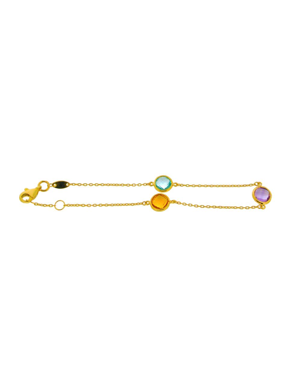 Bracelet tricolore femme