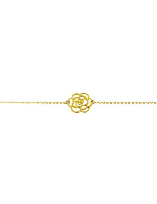 bracelet 9 carat fleur