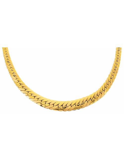 Bijoux maille collier chute 750/1000