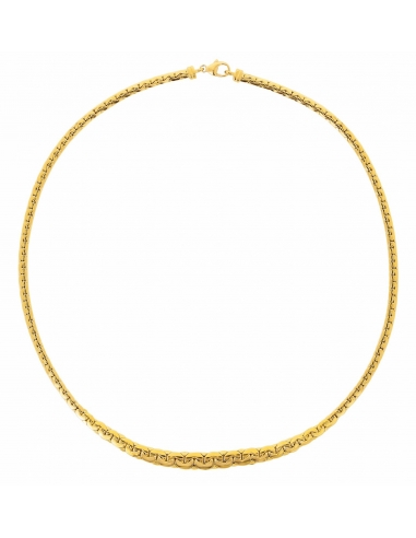 Collier Maille Haricot Or Jaune 750/1000