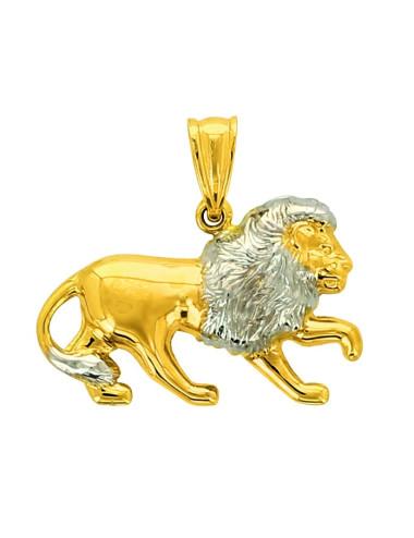 Pendentif lion or jaune 750/1000 homme