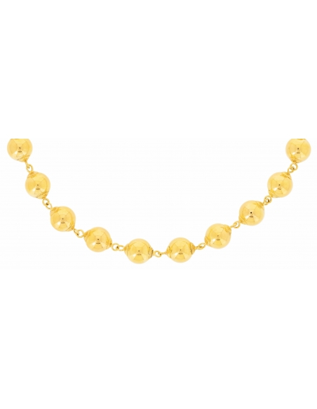 Collier or jaune 18 carats boules
