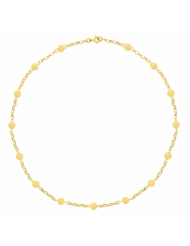 collier femme sable or jaune
