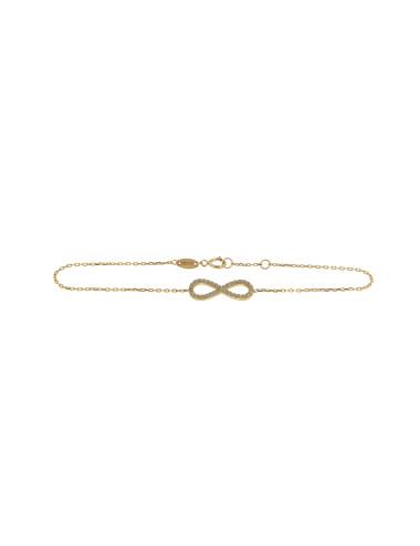 bracelet femme infini or