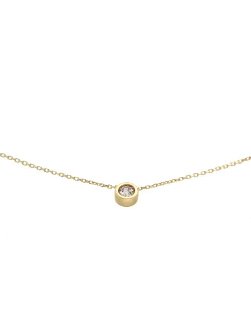 collier femme or jaune bijoux