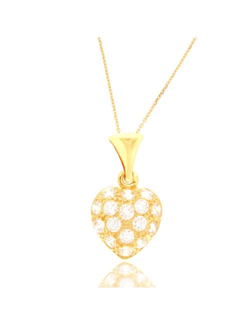 bijoux femme pas cher zircon 18 carats