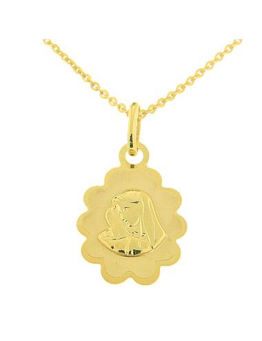 pendentif vierge or jaune