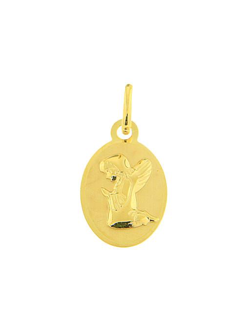 ange ovale pendentif or jaune