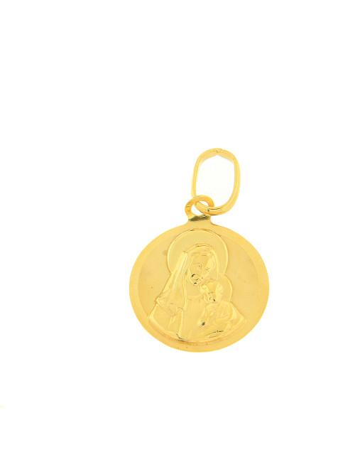 or jaune pendentif chaine religieux baptême