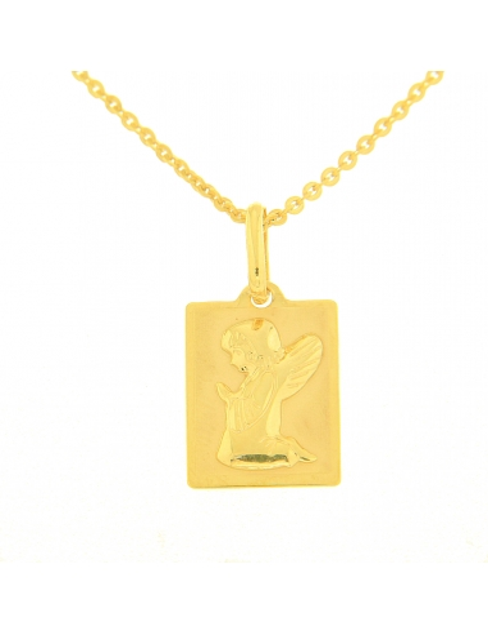 pendentif ange baptême or jaune