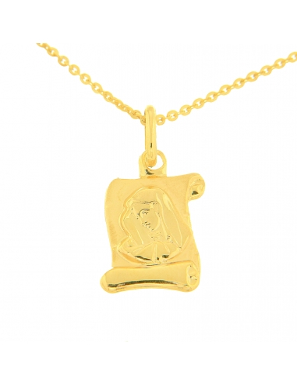 pendentif baptême or jaune enfant