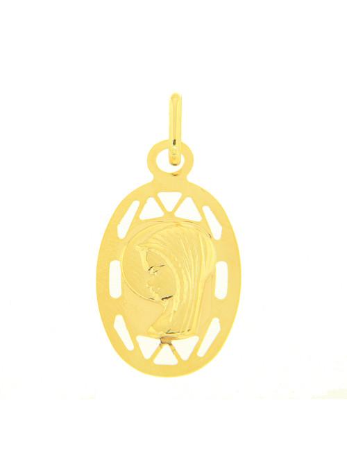 vierge ovale or jaune