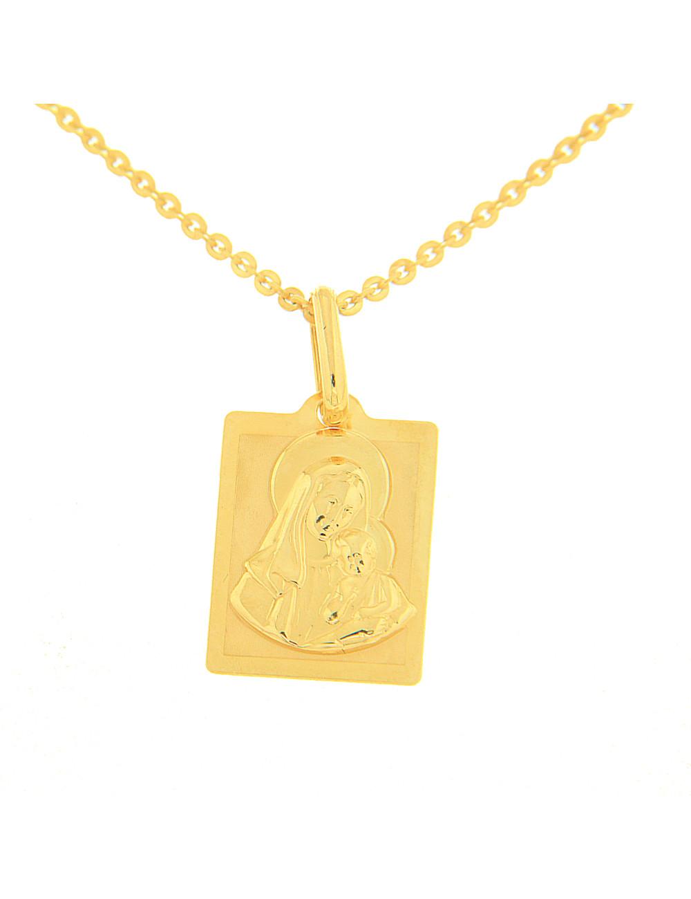 pendentif vierge enfant or
