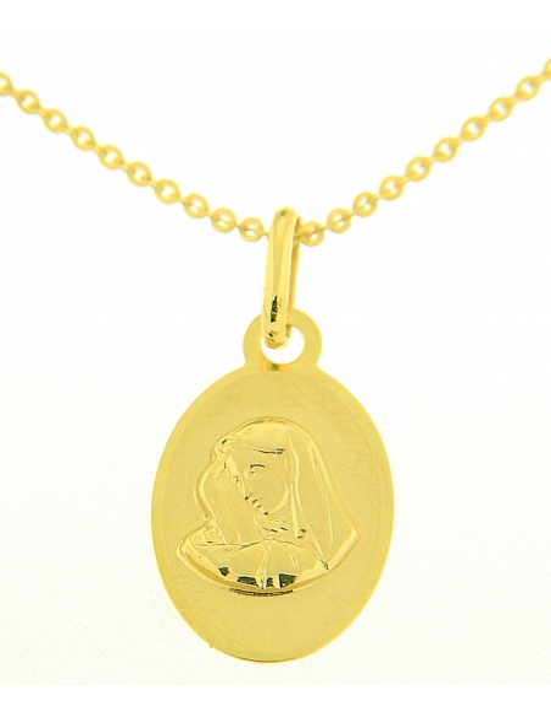 religieux pendentif or jaune