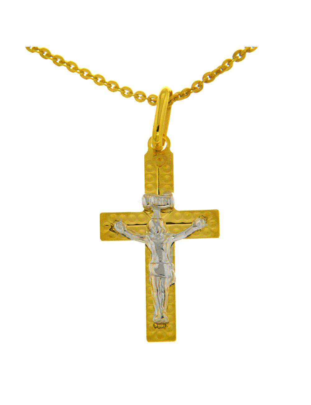 croix jesus or bicolore