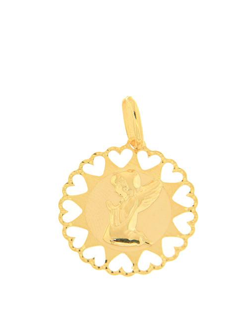 pendentif religieux ange coeur