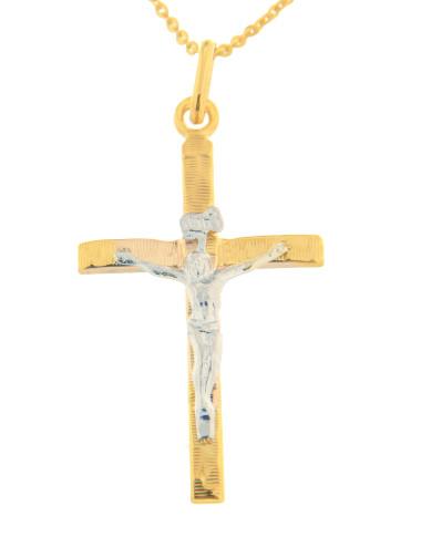 pendentif croix religieux chaine offerte