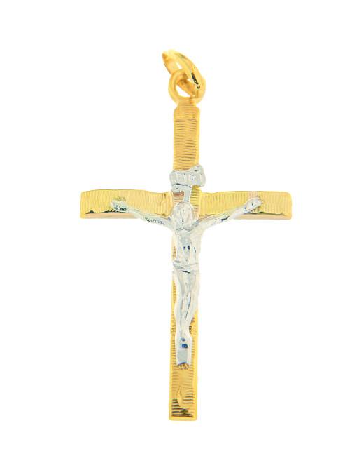 bicolore croix pendentif